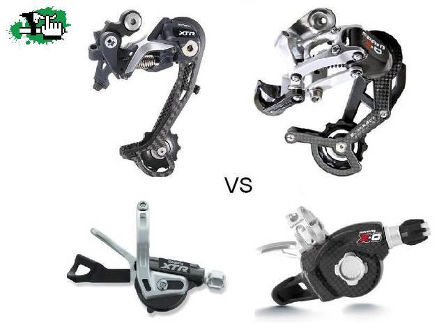 XTR VS SRAM Bicicleta BTT