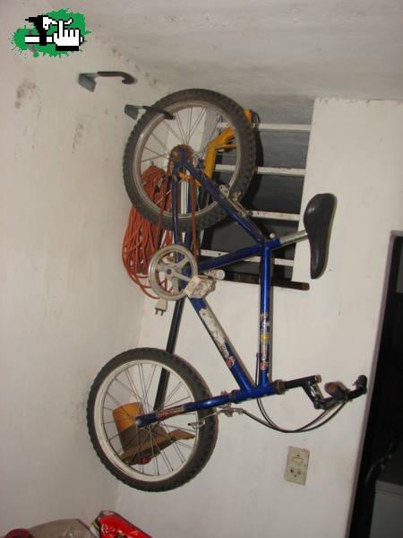 Gancho soporte para colgar bici bicicleta pared techo