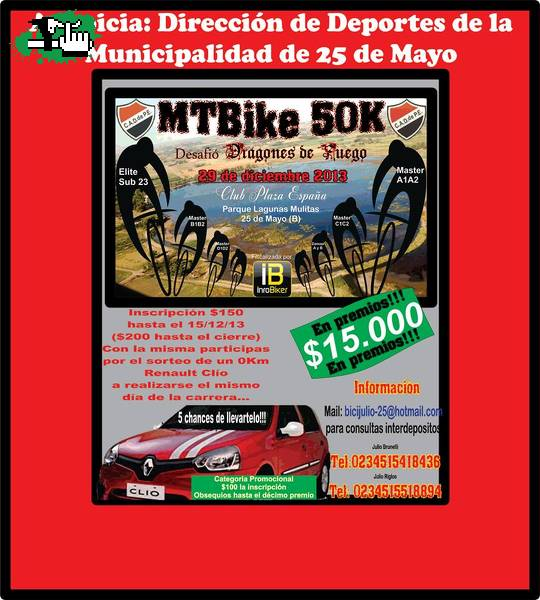 RURAL BIKE $15.000 EN PREMIOS