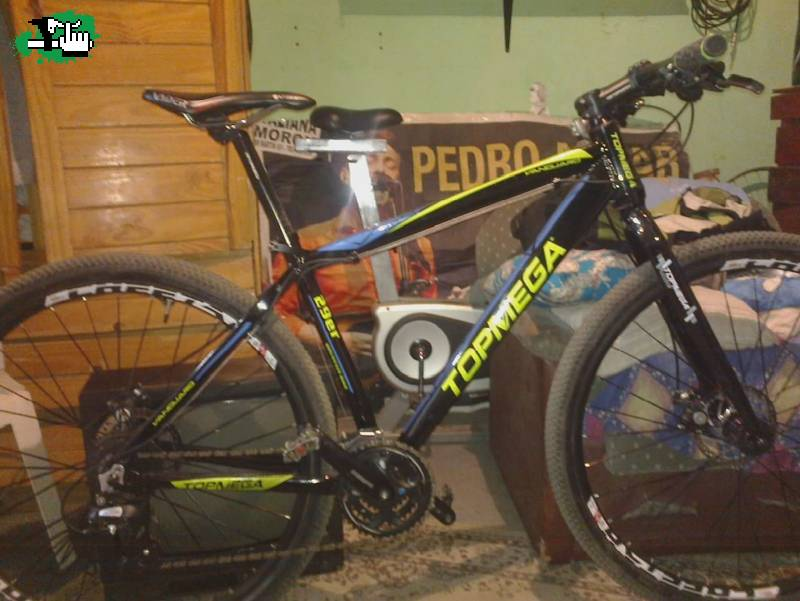 Me robaron la bici mtb marca top mega negra con detalles - La bici azul ...