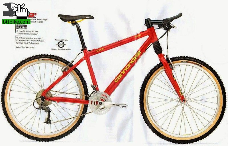 Cannondale F2000 (1997) CAAD3 Mtn. frame. Viper Red