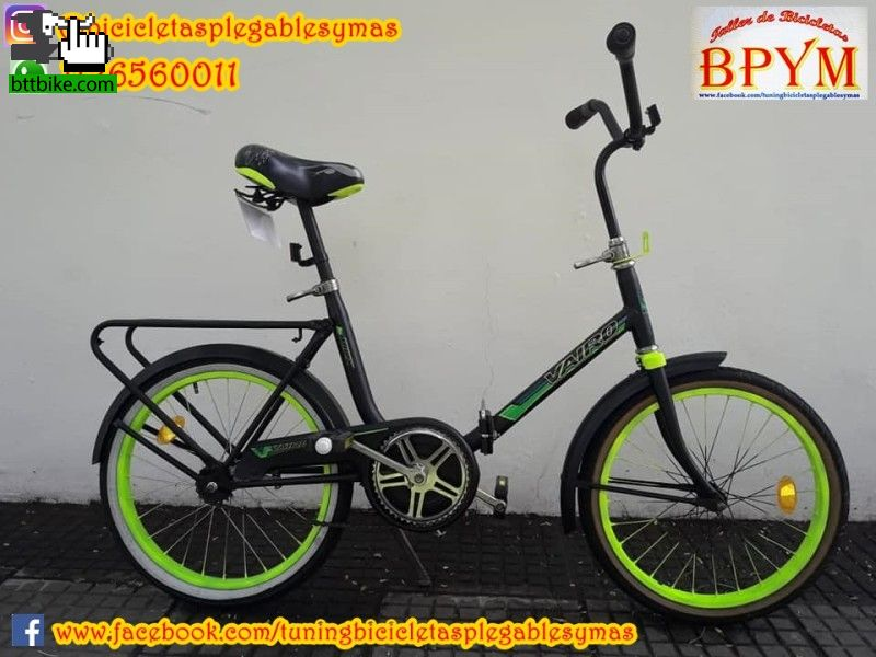 Retro bike Bicicleta Plegable Rodado 20 Retro Tuneada